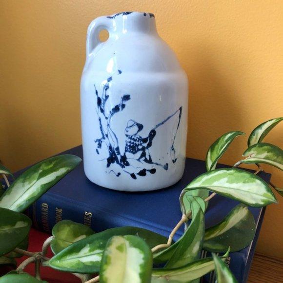 Vintage Studio Pottery Jug Cottagecore Decor Old